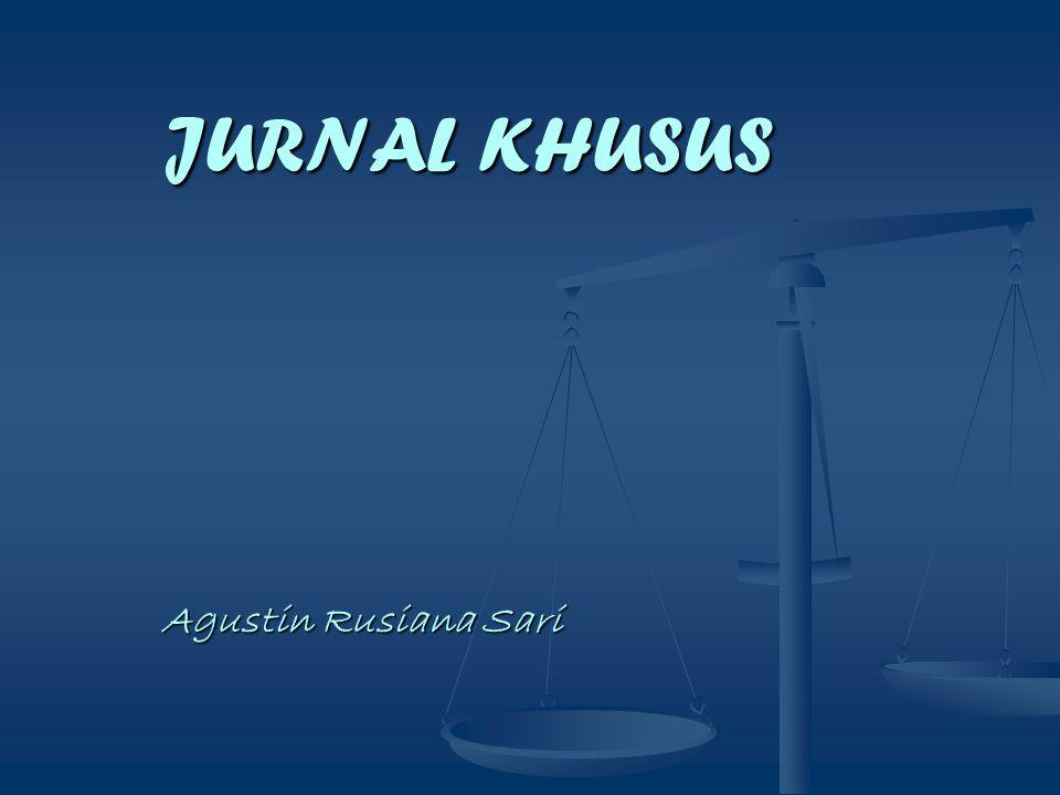 JURNAL KHUSUS Agustin Rusiana Sari