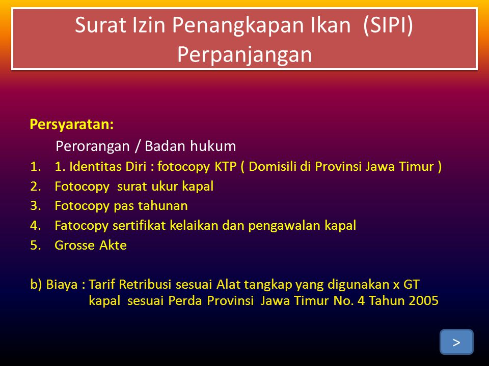 Persyaratan: Perorangan / Badan hukum 1.1.