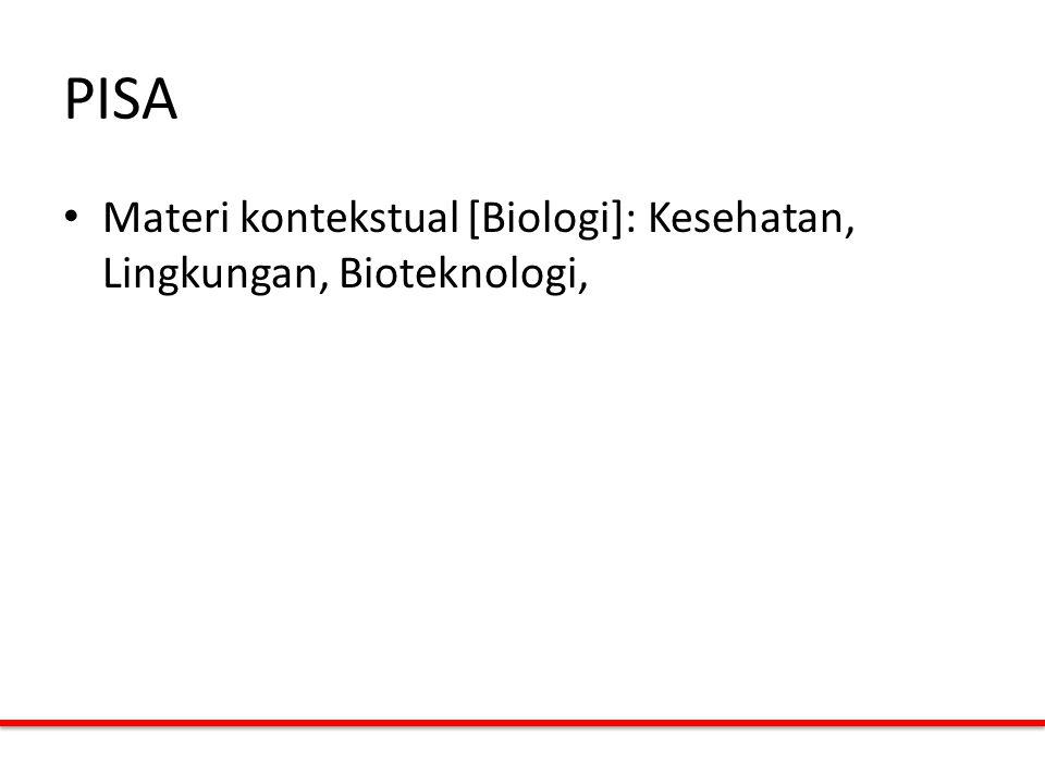 PISA Materi kontekstual [Biologi]: Kesehatan, Lingkungan, Bioteknologi,