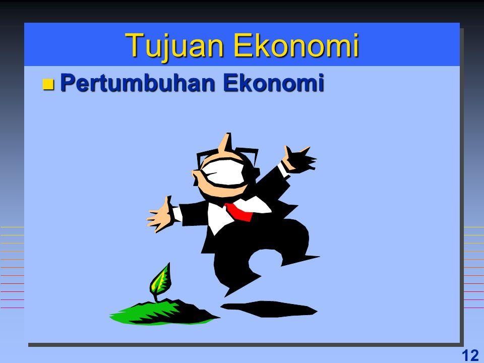12 Tujuan Ekonomi n Pertumbuhan Ekonomi