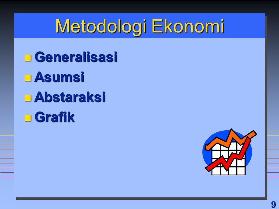 9 Metodologi Ekonomi n Generalisasi n Asumsi n Abstaraksi n Grafik