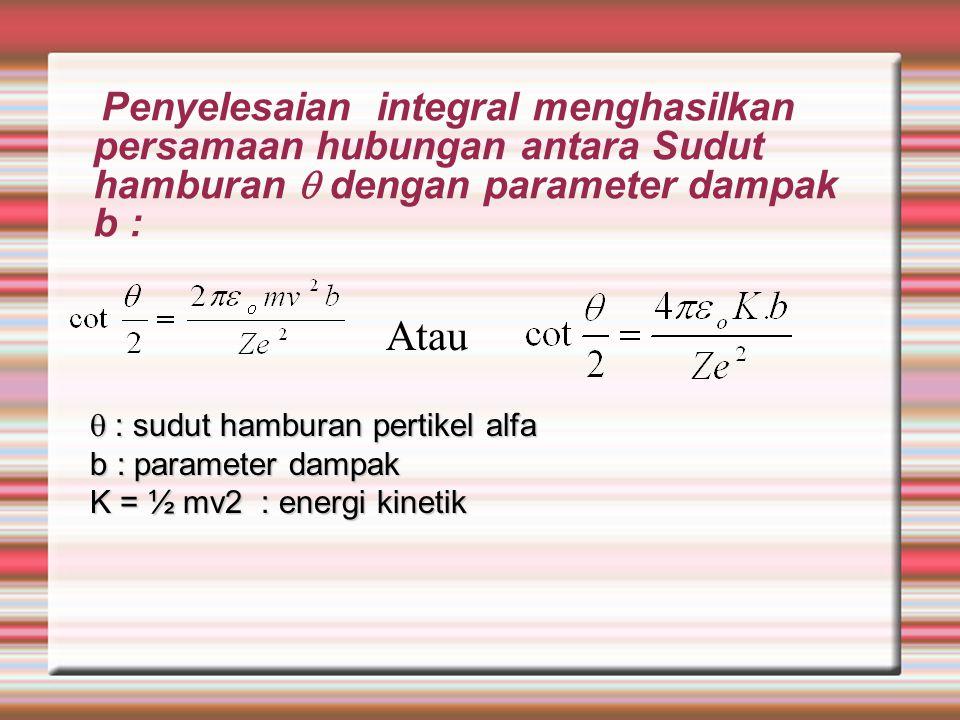 Subsitusikan persamaan ini ke dalam persamaan integral di atas akan menghasilkan: