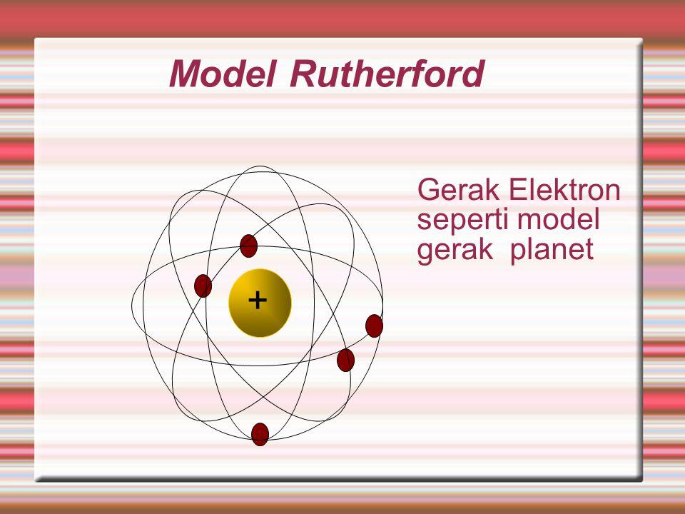 Rutherford mengusulkan model atom seperti susunan planet