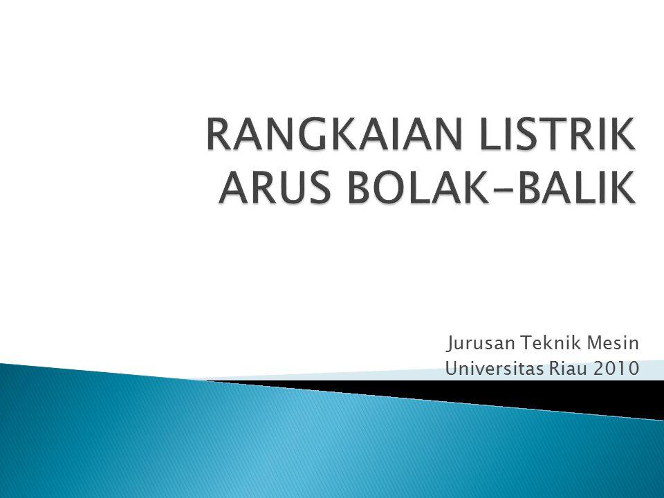 Jurusan Teknik Mesin Universitas Riau 2010