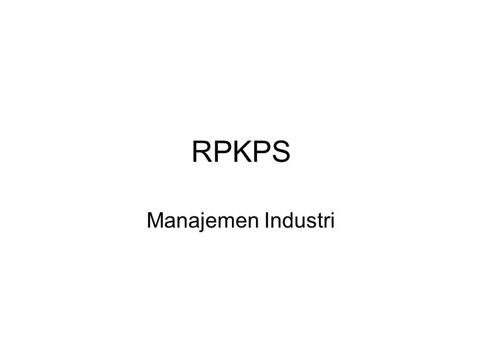 RPKPS Manajemen Industri