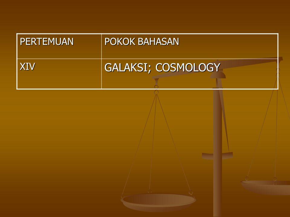 PERTEMUAN POKOK BAHASAN XIV GALAKSI; COSMOLOGY