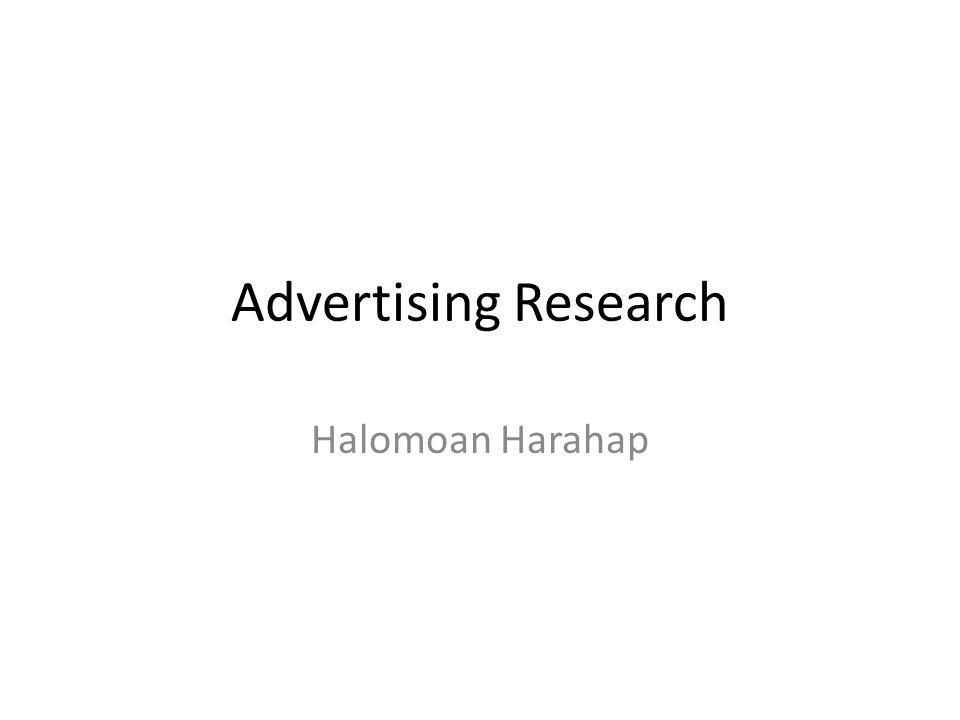 Advertising Research Halomoan Harahap