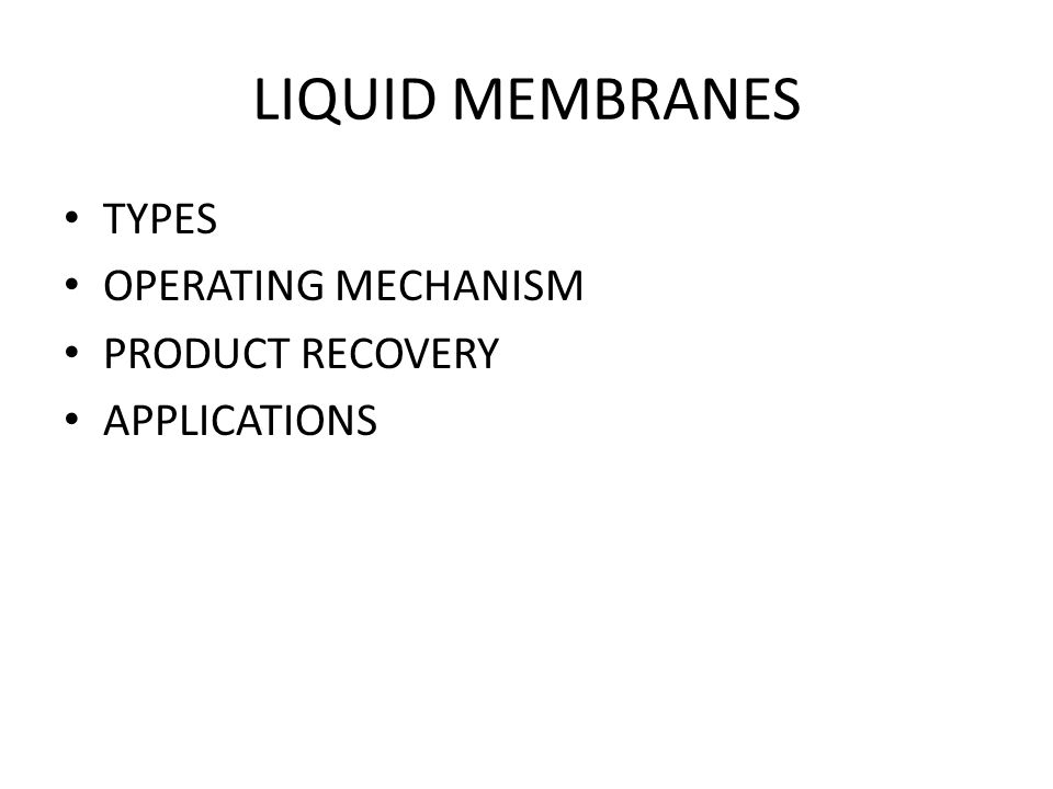 ELECTRODIALYSIS OUTLINE OF MEMBRANE OPERATION MEMBRANE TYPE AND TRANSPORT MECHANISM APPLICATIONS
