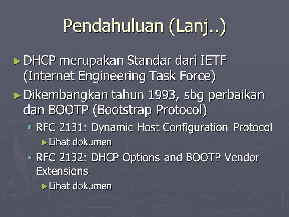 Sistem Kerja DHCP MAC: x:x:x:x:x:x IP: .MAC: x:x:x:x:x:x IP: .
