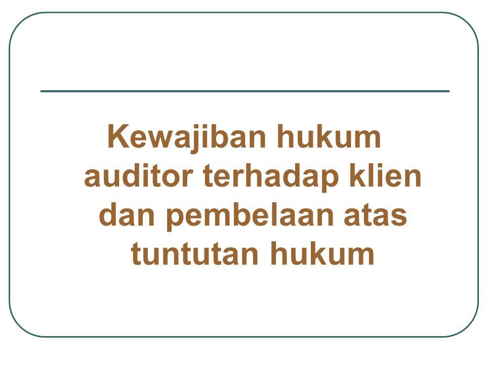 kriminal Pemerintah menuntut auditor karena secara sadar mmenerbitkan laporan audit yang tidak benar