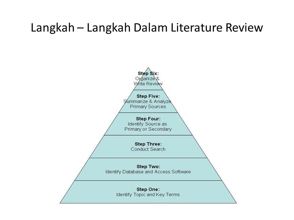 Langkah – Langkah Dalam Literature Review