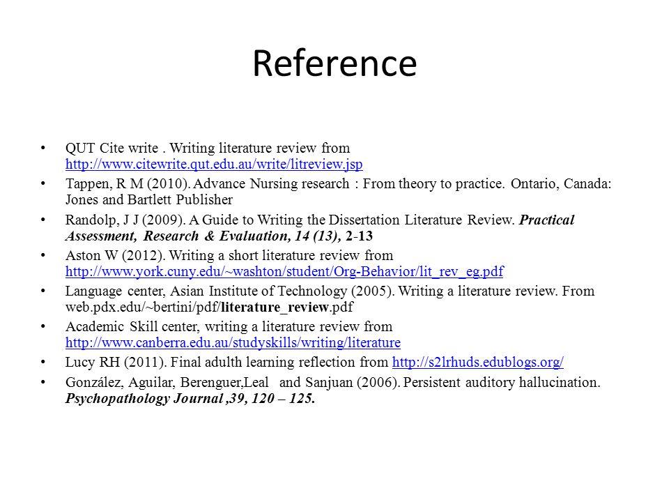 Reference QUT Cite write.