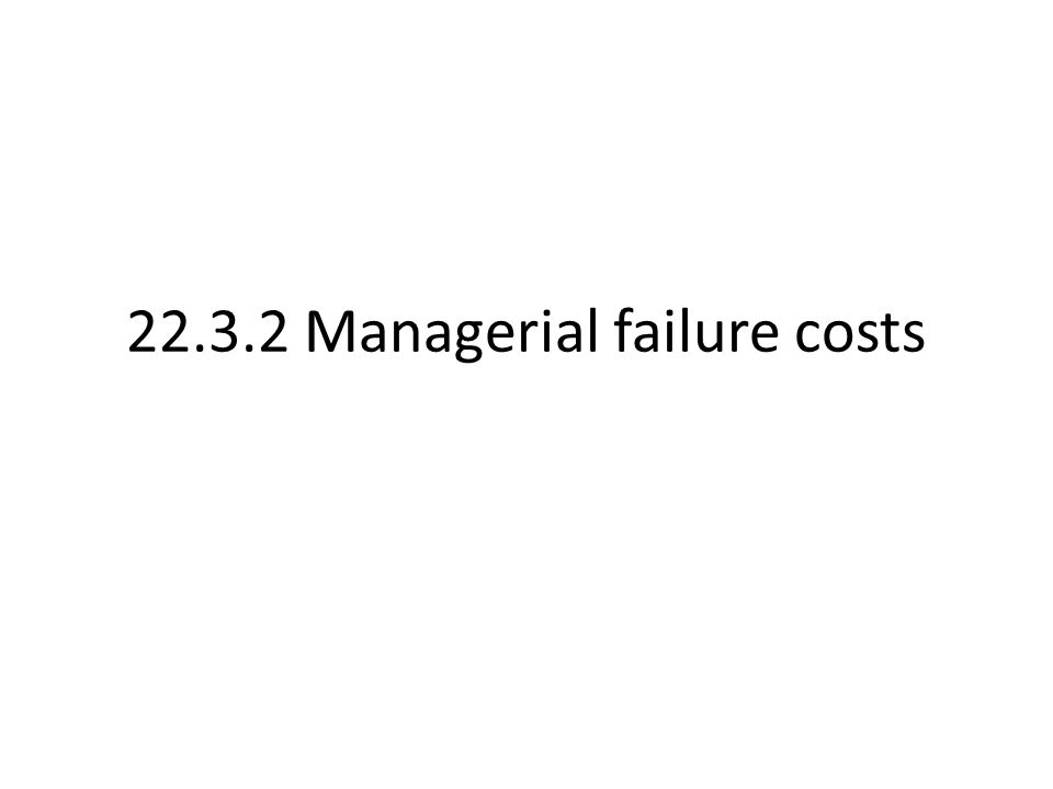 22.3.2 Managerial failure costs