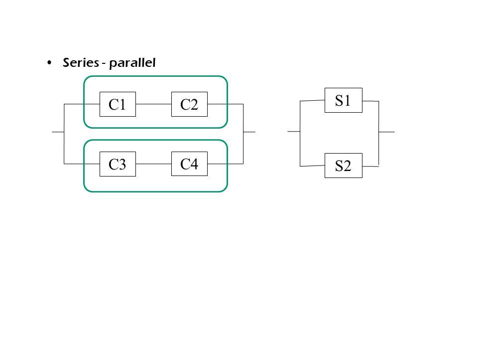 Series - parallel C1 C3 C2 C4 S1 S2