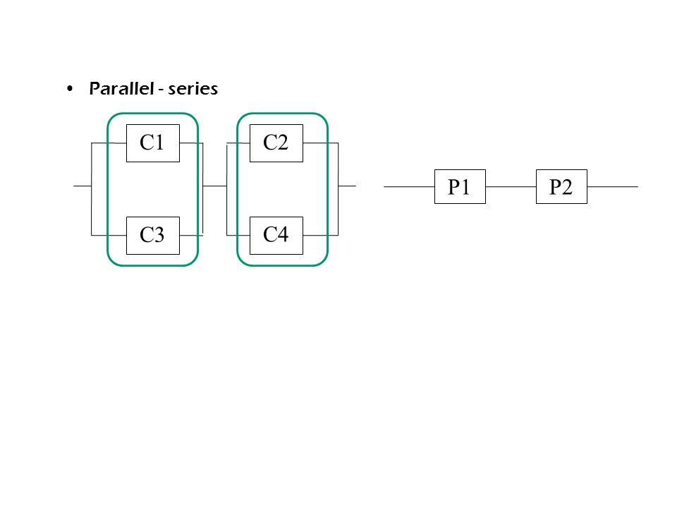 Parallel - series C1 C3 C2 C4 P1P2