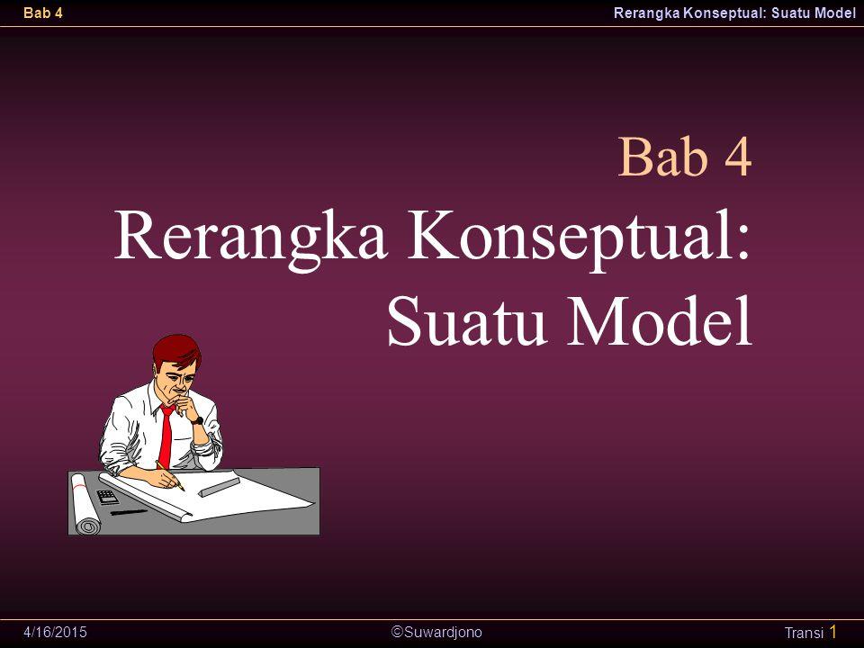  Suwardjono Bab 4Rerangka Konseptual: Suatu Model 4/16/2015 Transi 1 Bab 4 Rerangka Konseptual: Suatu Model