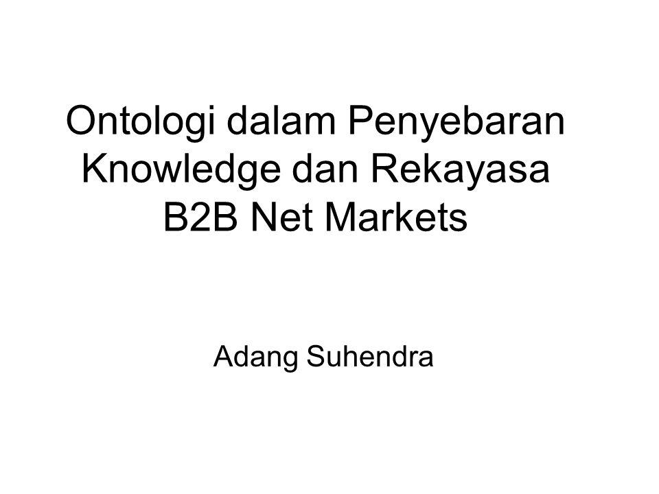 Ontologi dalam Penyebaran Knowledge dan Rekayasa B2B Net Markets Adang Suhendra
