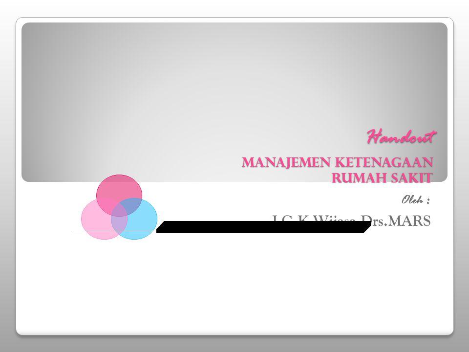 Handout Manajemen Ketenagaan Rumah Sakit Oleh : I G.K.Wijasa,Drs.MARS