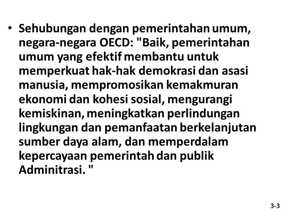 Sehubungan dengan pemerintahan umum, negara-negara OECD:
