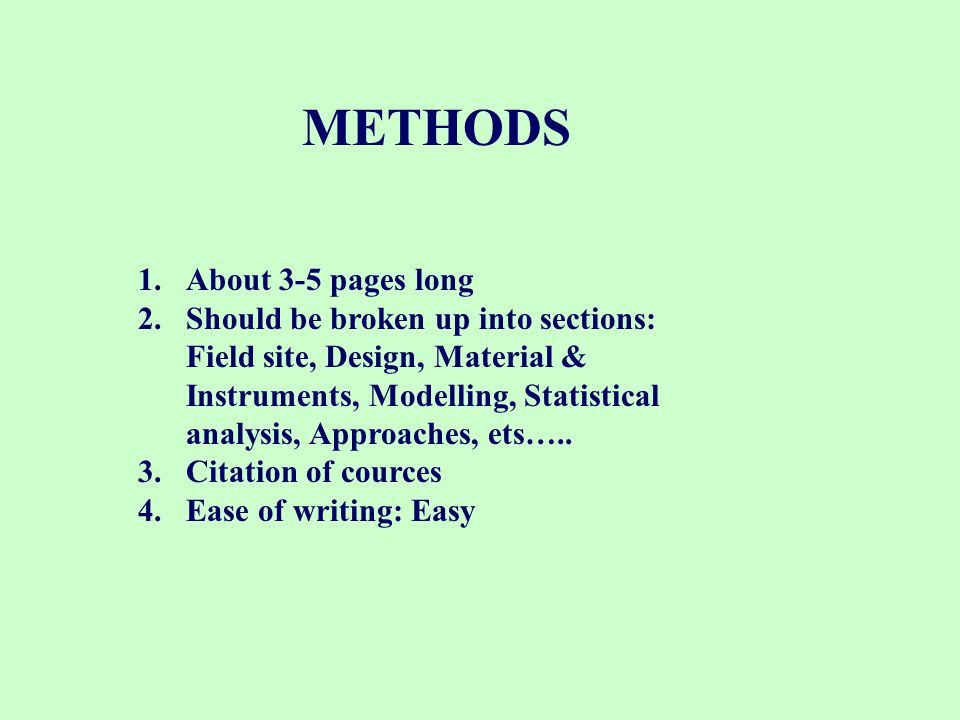 THE LITERATURE REVIEW 1.About 3-7 pages long 2.Includes literature pertinent to the field site chosen to address the problem or provides additional background to the problem 3.Ease of writing: Very easy ………..