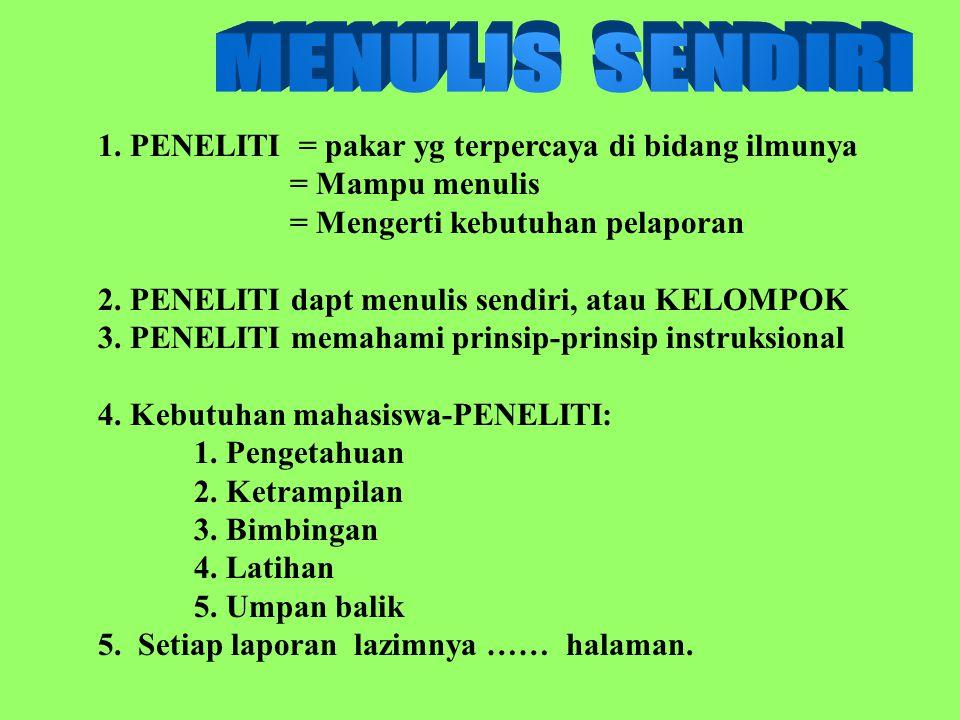 Soemarno, PAT 2003-MPP21 Kebutuhan mahasiswa-PENELITI: 1.