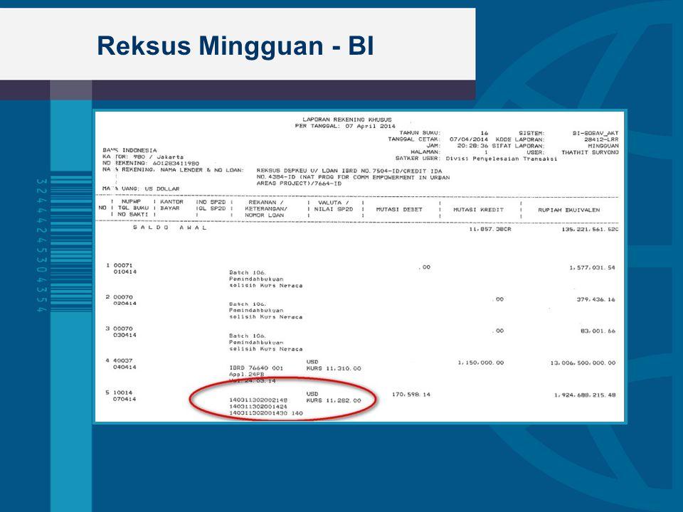 Reksus Mingguan - BI  Bullet 1