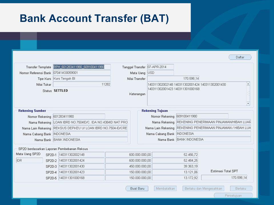 Bank Account Transfer (BAT)  Bullet 1