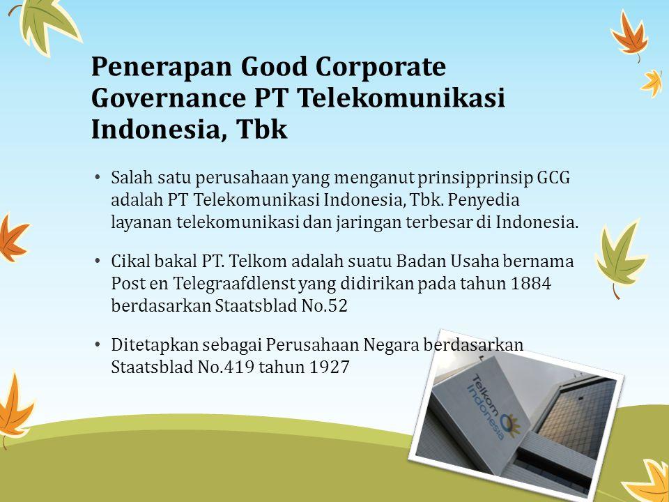 Kepastian aktivitas Good Corporate Governance Kepatuhan (Compliance) terhadap peraturan perundang-undangan yang berlaku.