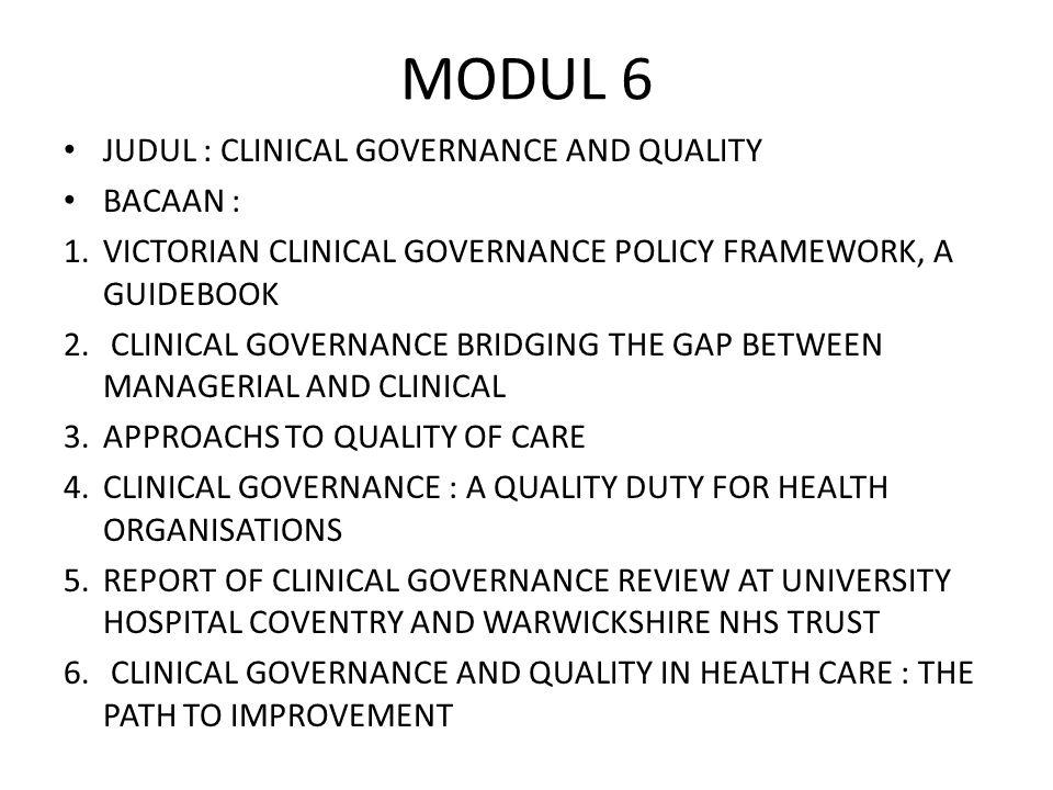 Program quality assurance 1.