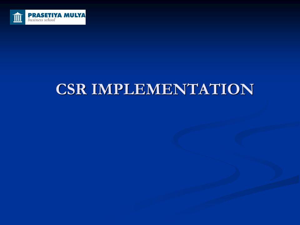 CSR IMPLEMENTATION