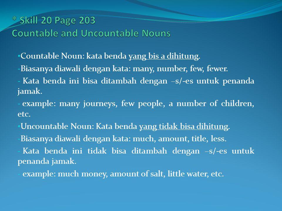 * Skill 21 page 207 SUBJECT And OBJECT PRONOUN Setiap pronoun memiliki bentuk subject and Object tersendiri.