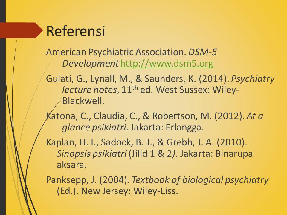 Referensi American Psychiatric Association.