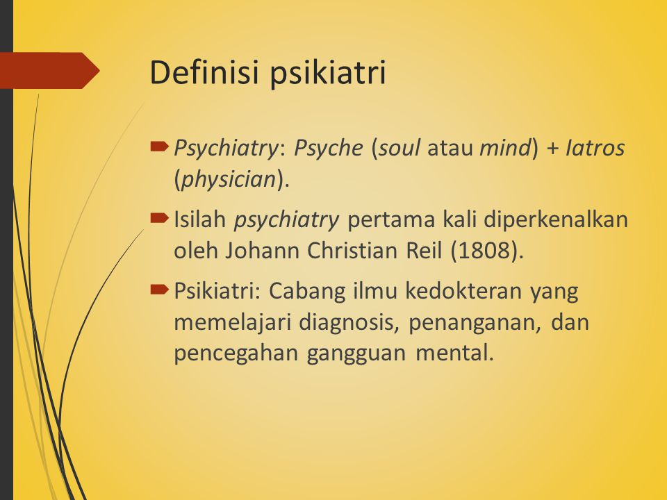 (Kalat, 2011, p. 9 – Introduction to psychology) Profesional kesehatan mental