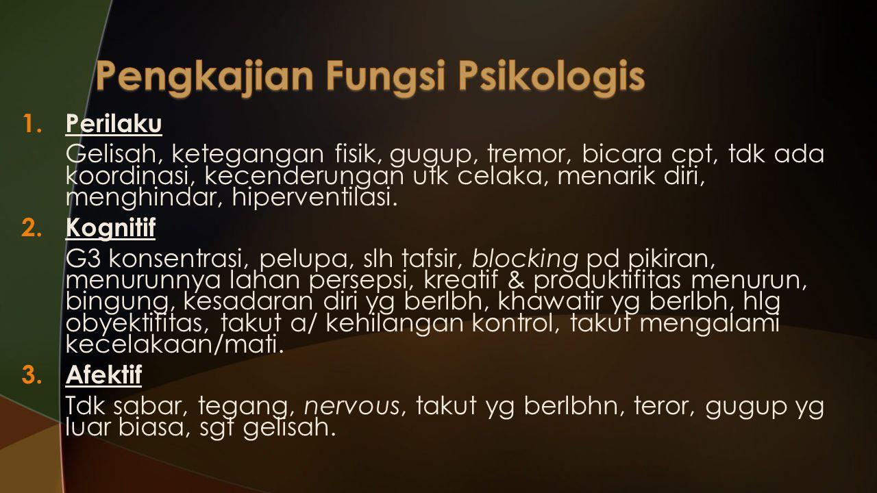 5.Sistem Urologi Tdk dpt menahan kencing (inkontinensia), sering kencing. 6.Sistem Integumen Rs terbakar pd muka, berkeringat set4 (telapak tangan), g
