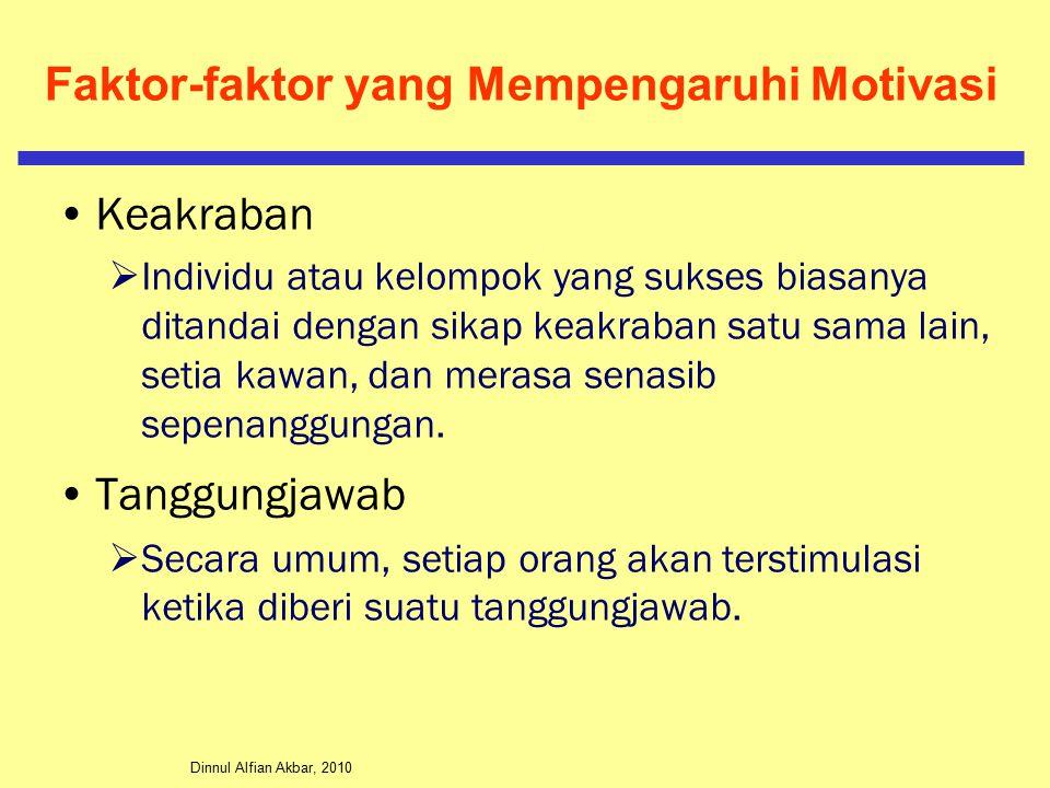 Dinnul Alfian Akbar, 2010 Faktor-faktor yang Mempengaruhi Motivasi Keakraban  Individu atau kelompok yang sukses biasanya ditandai dengan sikap keakraban satu sama lain, setia kawan, dan merasa senasib sepenanggungan.