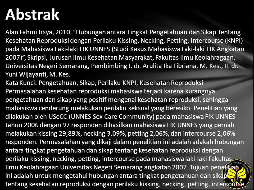 Abstrak Alan Fahmi Irsya, 2010.