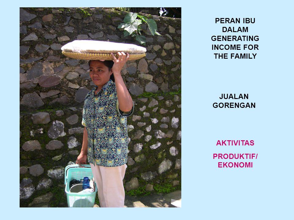 PERAN IBU DALAM GENERATING INCOME FOR THE FAMILY JUALAN GORENGAN AKTIVITAS PRODUKTIF/ EKONOMI