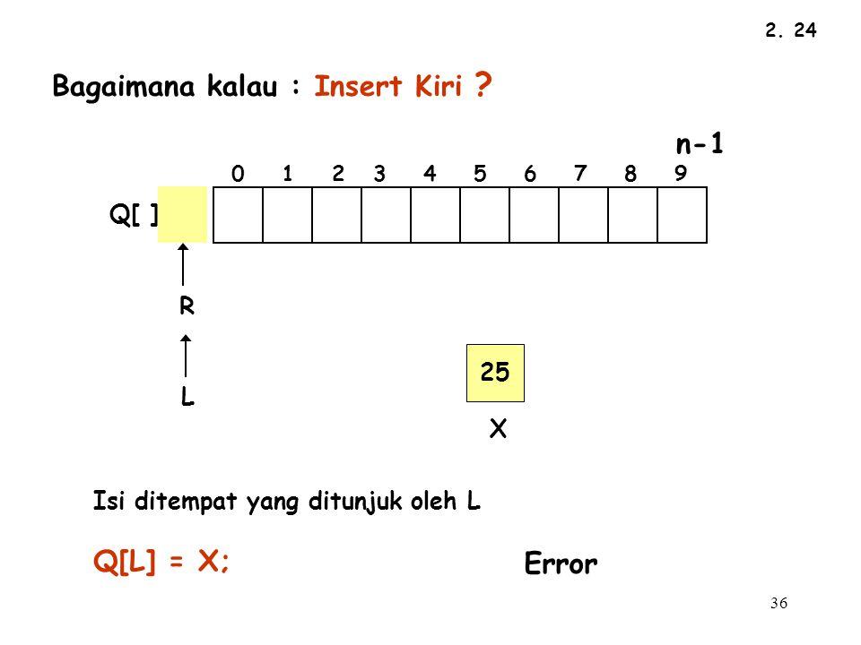 36 2.24 L R Q[ ] Bagaimana kalau : Insert Kiri .