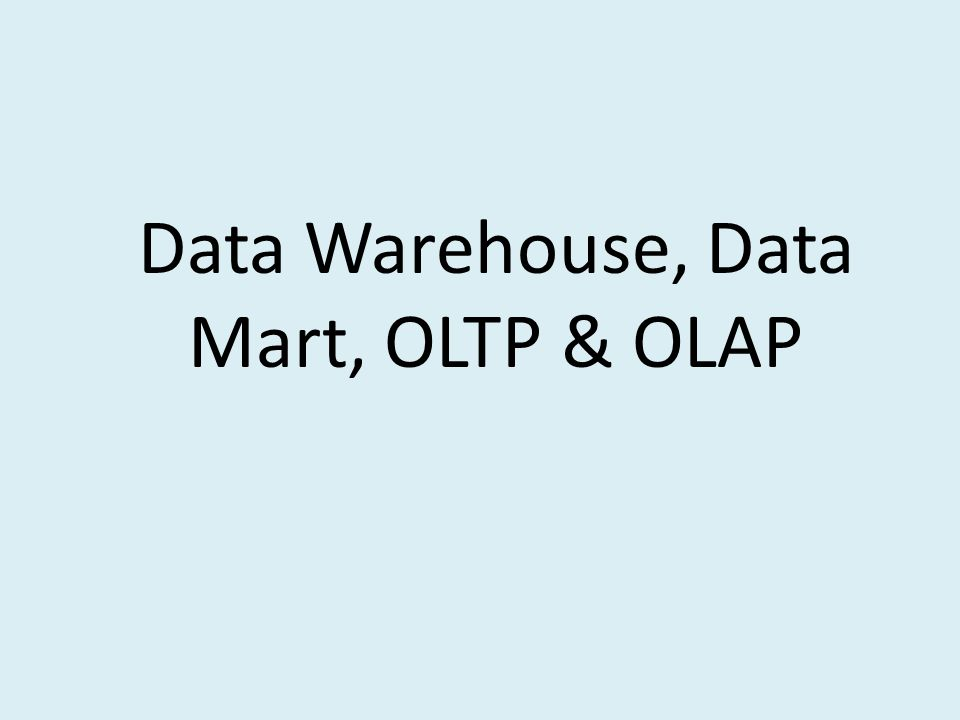 Software Data Mart SmartMart (IBM) Visual Warehouse (IBM) PowerMart (Informatica)