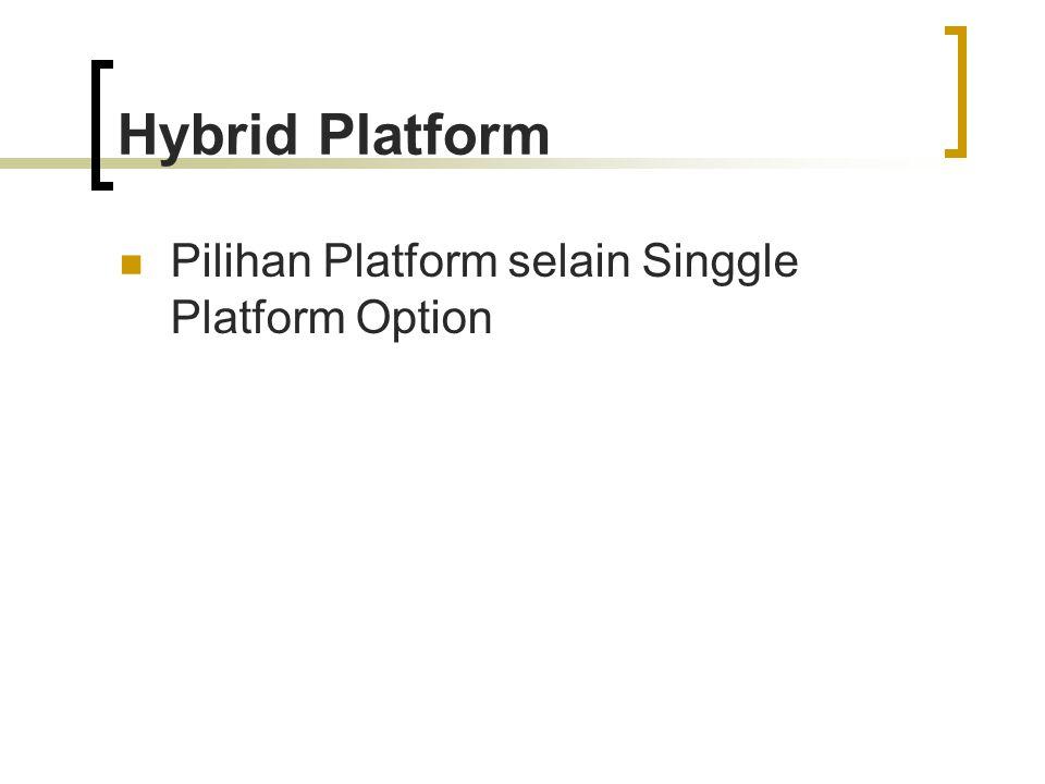 Hybrid Platform Pilihan Platform selain Singgle Platform Option