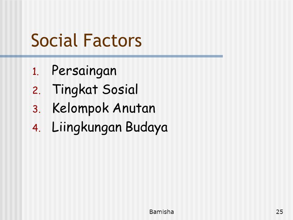 Bamisha24 Person Factors 1. Persepsi 2. Sikap 3. Belajar 4. Kepribadian 5. Perhatian 6. Daya Ingat 7. Keterbatasan Ekonomi