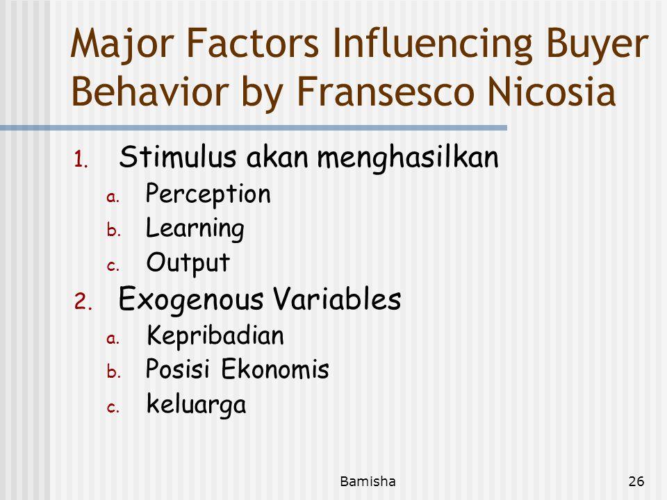 Bamisha25 Social Factors 1. Persaingan 2. Tingkat Sosial 3. Kelompok Anutan 4. Liingkungan Budaya