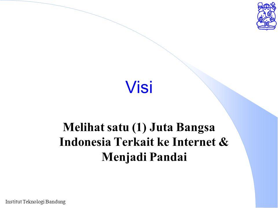 Visi Melihat satu (1) Juta Bangsa Indonesia Terkait ke Internet & Menjadi Pandai