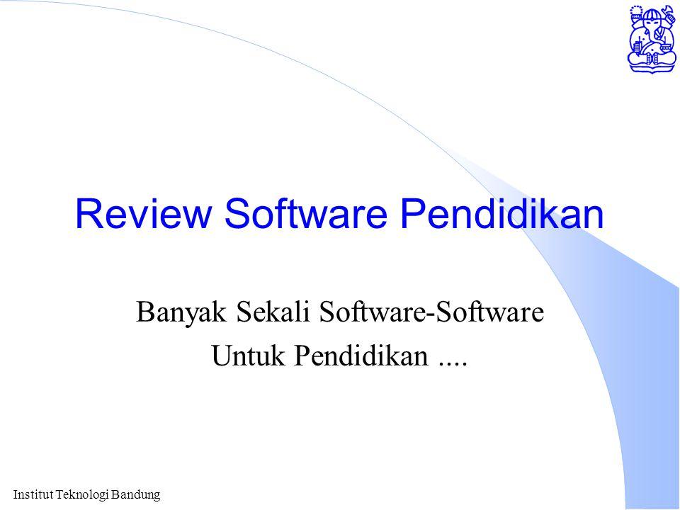 Review Software Pendidikan Banyak Sekali Software-Software Untuk Pendidikan....