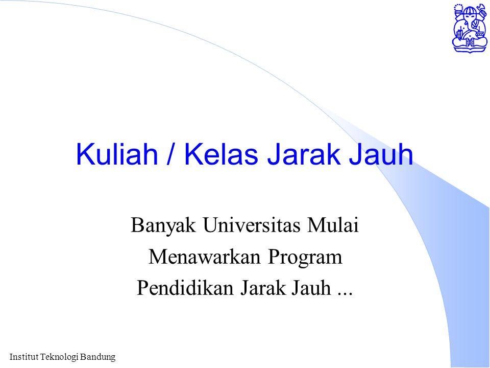 Kuliah / Kelas Jarak Jauh Banyak Universitas Mulai Menawarkan Program Pendidikan Jarak Jauh...