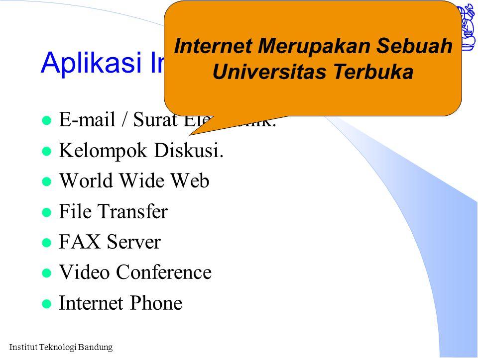 Mailing List Tempat Diskusi l sysop-l@itb.ac.id.l pau-mikro@itb.ac.id.