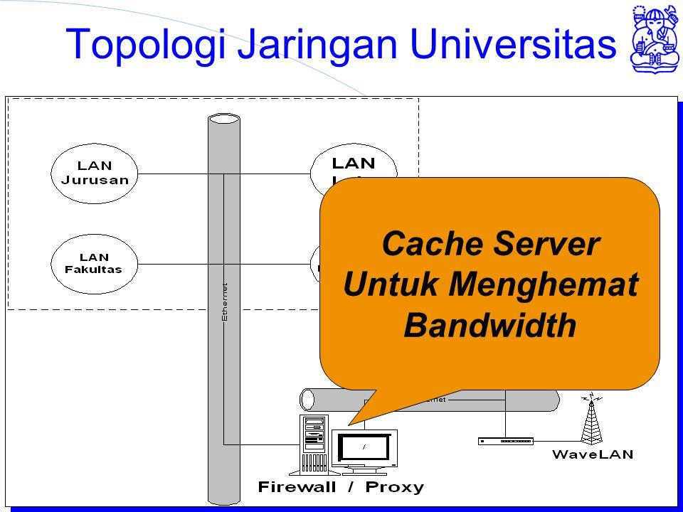 Institut Teknologi Bandung Topologi Jaringan Universitas Cache Server Untuk Menghemat Bandwidth
