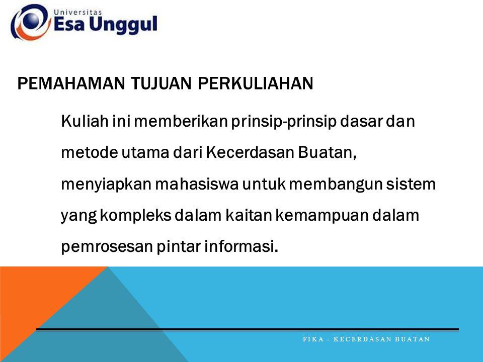 DAFTAR PUSTAKA Sri Kusumadewi, Artificial Intelligence (Teknik dan Aplikasinya), Graha Ilmu, 2003, Yogyakarta William Siler and James J.