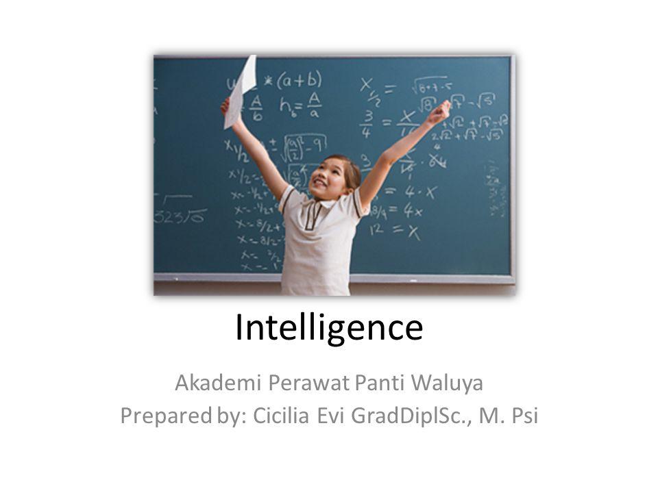 Intelligence Akademi Perawat Panti Waluya Prepared by: Cicilia Evi GradDiplSc., M. Psi