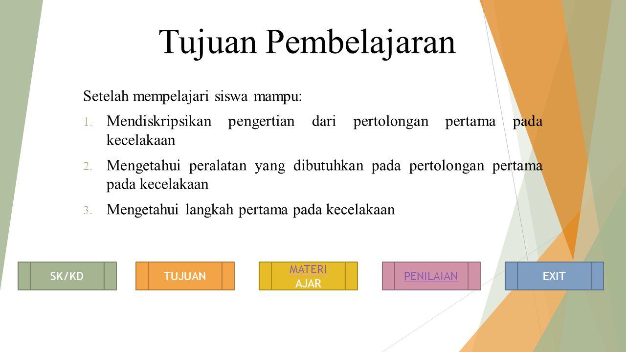 Tujuan Pembelajaran Setelah mempelajari siswa mampu: 1.